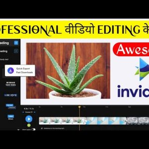 Best online video Editor free no watermark || Invideo tutorial in hindi || Review || Free Templates